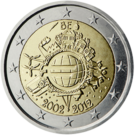 Joint €2 commemorative side 2012