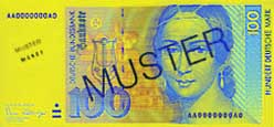 100 Deutsche Mark banknote frontside