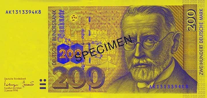 200 Deutsche Mark banknote frontside