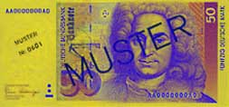 50 Deutsche Mark banknote frontside