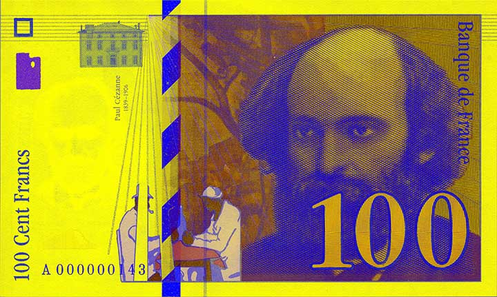100 French franc banknote frontside
